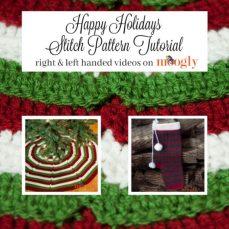 Happy Holidays Stitch Pattern Tutorial