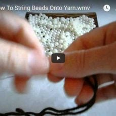 How To String Beads Onto Yarn