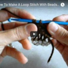How to Make a Loop Stitch With Beads