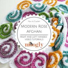 Modern Rose Afghan Tutorial from Moogly