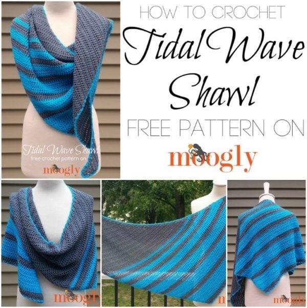 Tidal Wave Shawl Tutorial • Free Crochet Tutorials