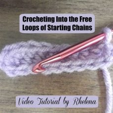 Crocheting Into the Free Loops of Starting Chains by Rhelena
