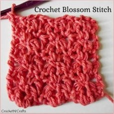 Crochet Blossom Stitch Tutorial - from Rhelena