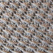 Cross-Over Long Double Crochet (DC)