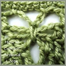 How to Crochet Around Loops
