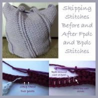 Skipping Stitches Before and After Fpdc and Bpdc Stitches by Rhelena