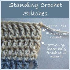 Standing Crochet Stitches by Rhelena