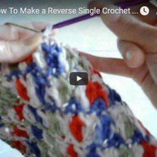 Reverse Single Crochet Stitch Video Tutorial