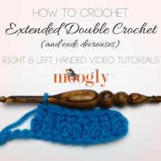 Extended Double Crochet Stitch Tutorial