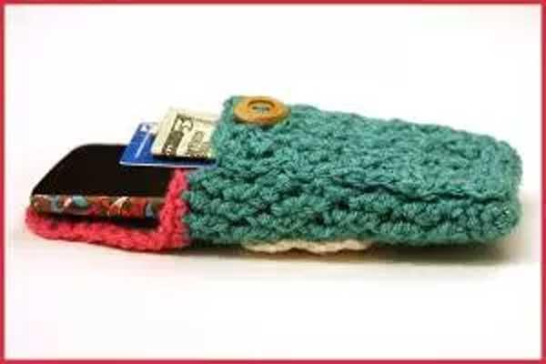 Crochet Tutorial Cell Phone Case With Secret Pocket Free Crochet