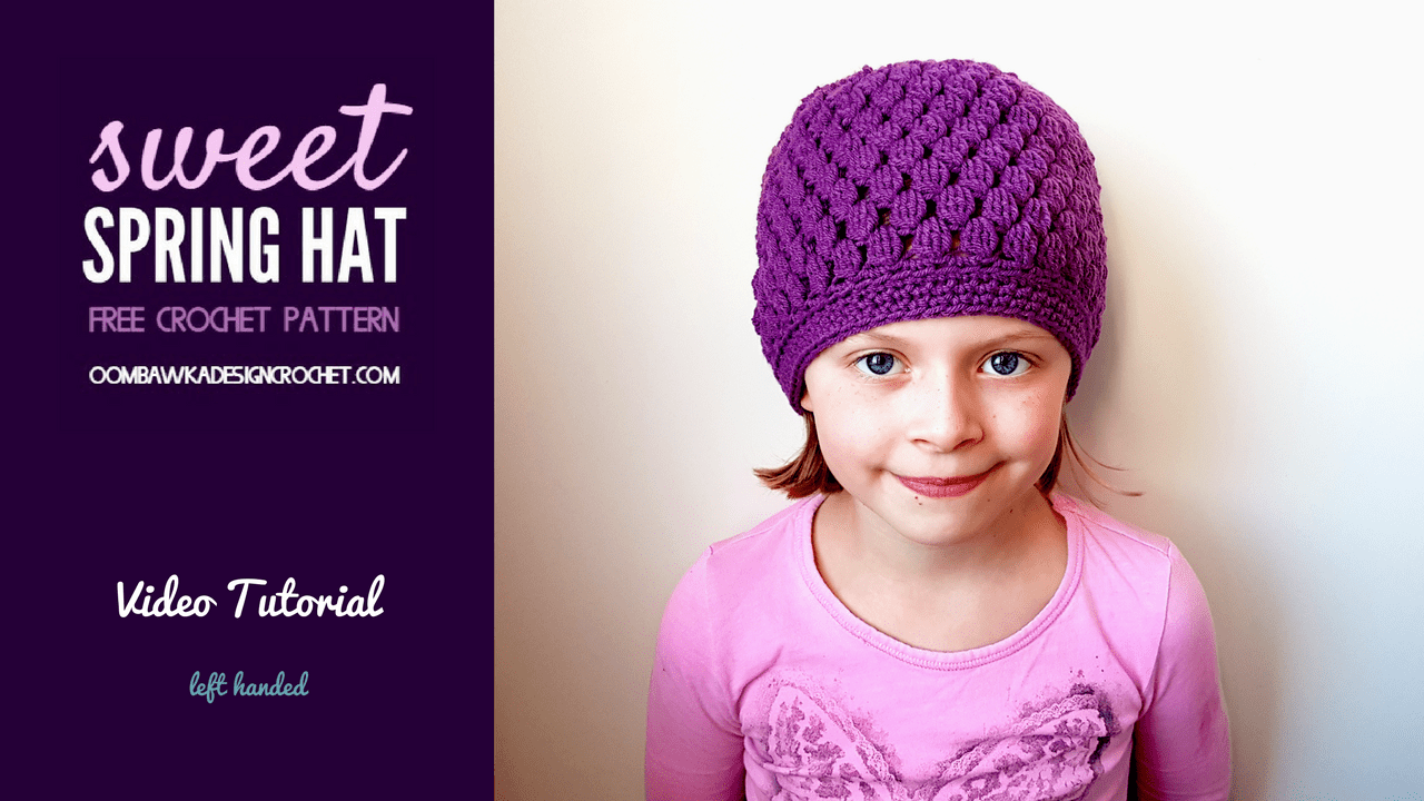 Sweet spring hat free crochet tutorials learn how to crochet for free free crochet tutorials has hundreds of photo and video baditri Image collections