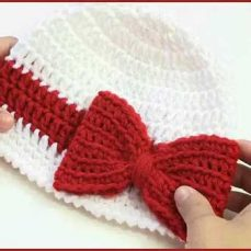 Crochet Tutorial: Ribbon and Bow Hat