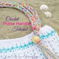 Crochet Purse Handle With Beads And Fringe
