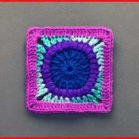 Crochet Tutorial: Neela Pani Granny Square