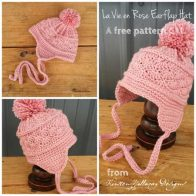 La Vie en Rose Earflap Hat Tutorial