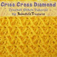 Criss Cross Diamond | Crochet Stitch Tutorial