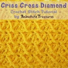 Criss Cross Diamond | Crochet Stitch Tutorial