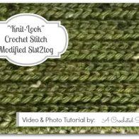 Crochet Stitch Photo and Video Tutorial   Modified Slst2tog