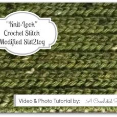 Crochet Stitch Photo and Video Tutorial | Modified Slst2tog