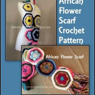 African Flower Scarf Video Tutorial