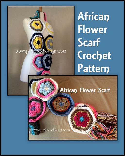 African Flower Scarf Video Tutorial Free Crochet Tutorials