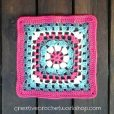Lacy Flower Wheel Granny Square