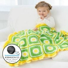 Crochet Daisy Blanket Tutorial