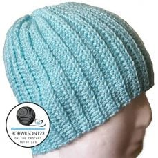 Crochet Knit Look Hat Tutorial