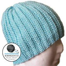 Crochet Knit Look Hat Tutorial