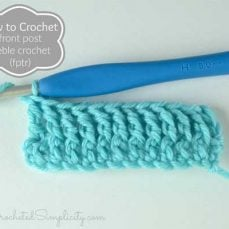 How to Crochet – Front Post Treble Crochet (fptr)