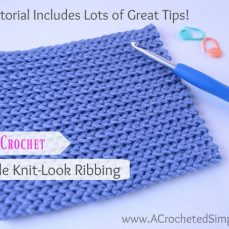 How to Crochet Reversible Knit-Look Ribbing