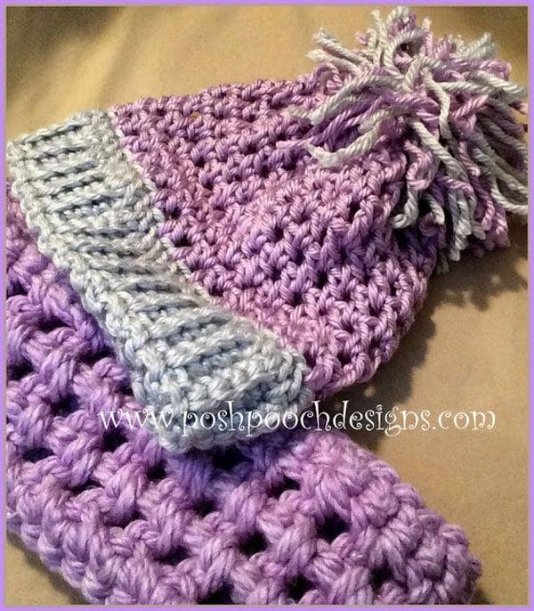 Mentor Pom Pom Chunky Beanie Hat - Free Crochet Tutorials