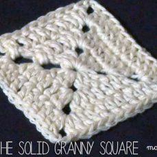 Solid Granny Square Tutorial