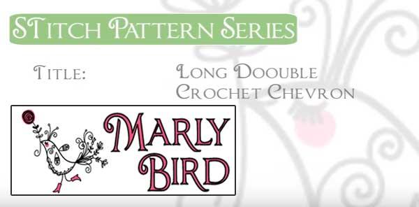 How To Crochet Long Double Crochet Chevron Stitch Pattern Free
