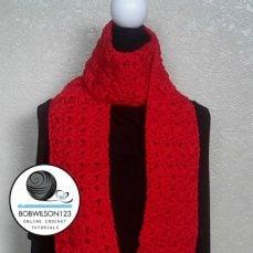 Crochet Tutorial - Cluster V Stitch Scarf