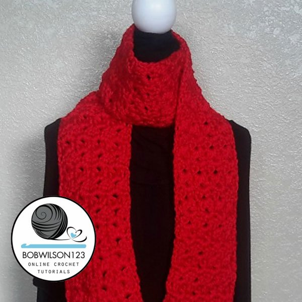 Crochet Tutorial Cluster V Stitch Scarf Free Crochet Tutorials