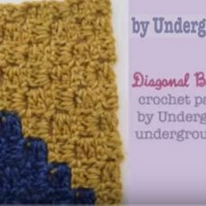 Diagonal Box Stitch Square Crochet Tutorial