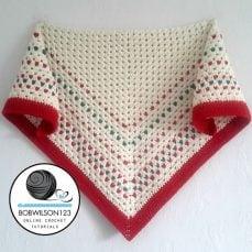 Crochet Tutorial - Down The Line Shawl