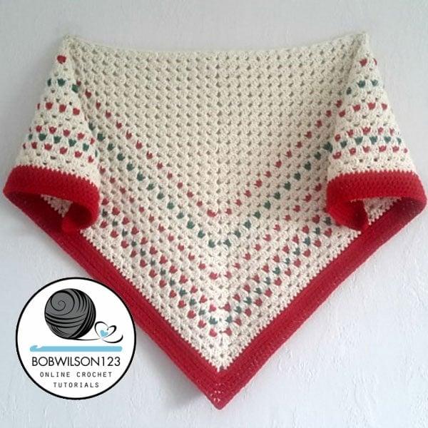 Crochet Tutorial Down The Line Shawl Free Crochet Tutorials