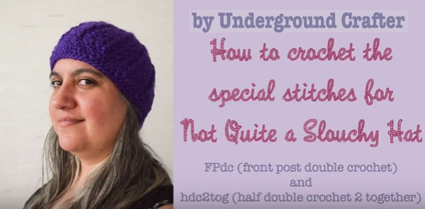 cec589daff5 Moray Slouchy Hat by AG Handmades Source · FPdc and hdc2tog Video Tutorial  Free Crochet Tutorials crochet pattern ...