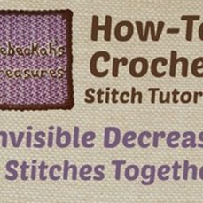 Invisible Decrease (2tog) - Crochet Stitch Tutorial