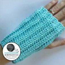 Crochet Tutorial - Knit look Fingerless Gloves