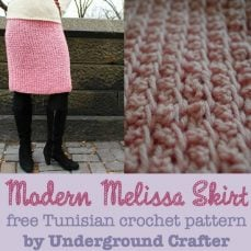 Modern Melissa Skirt Tunisian Crochet Tutorial