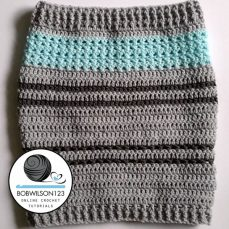 Crochet Tutorial – Stitch Sampler Cowl