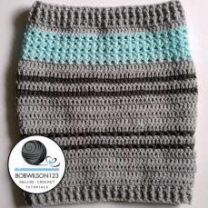 Crochet Tutorial - Stitch Sampler Cowl