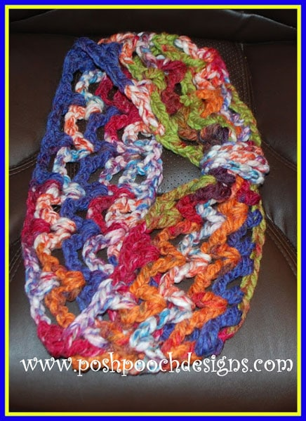 Super Chunky V-Stitch Cowl Video Tutorial and Free Pattern
