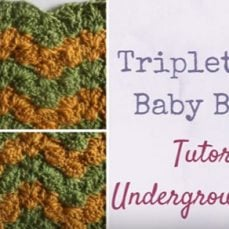 Triplet Ripple Baby Blanket Tutorial