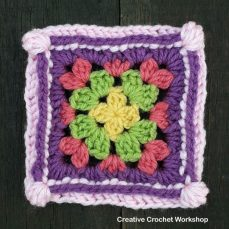Groovy Cluster Granny Square Tutorial