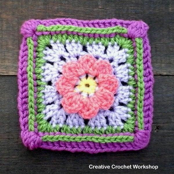 Lazy Daisy Granny Square Tutorial • Free Crochet Tutorials