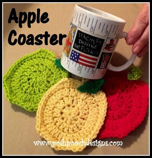 Apple Coaster Crochet Pattern Free Crochet Tutorials